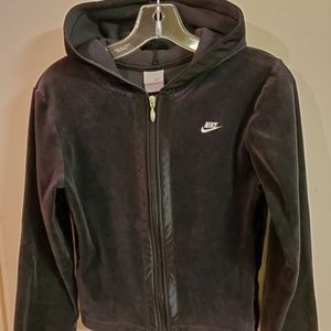 Nike womens velour track jacket